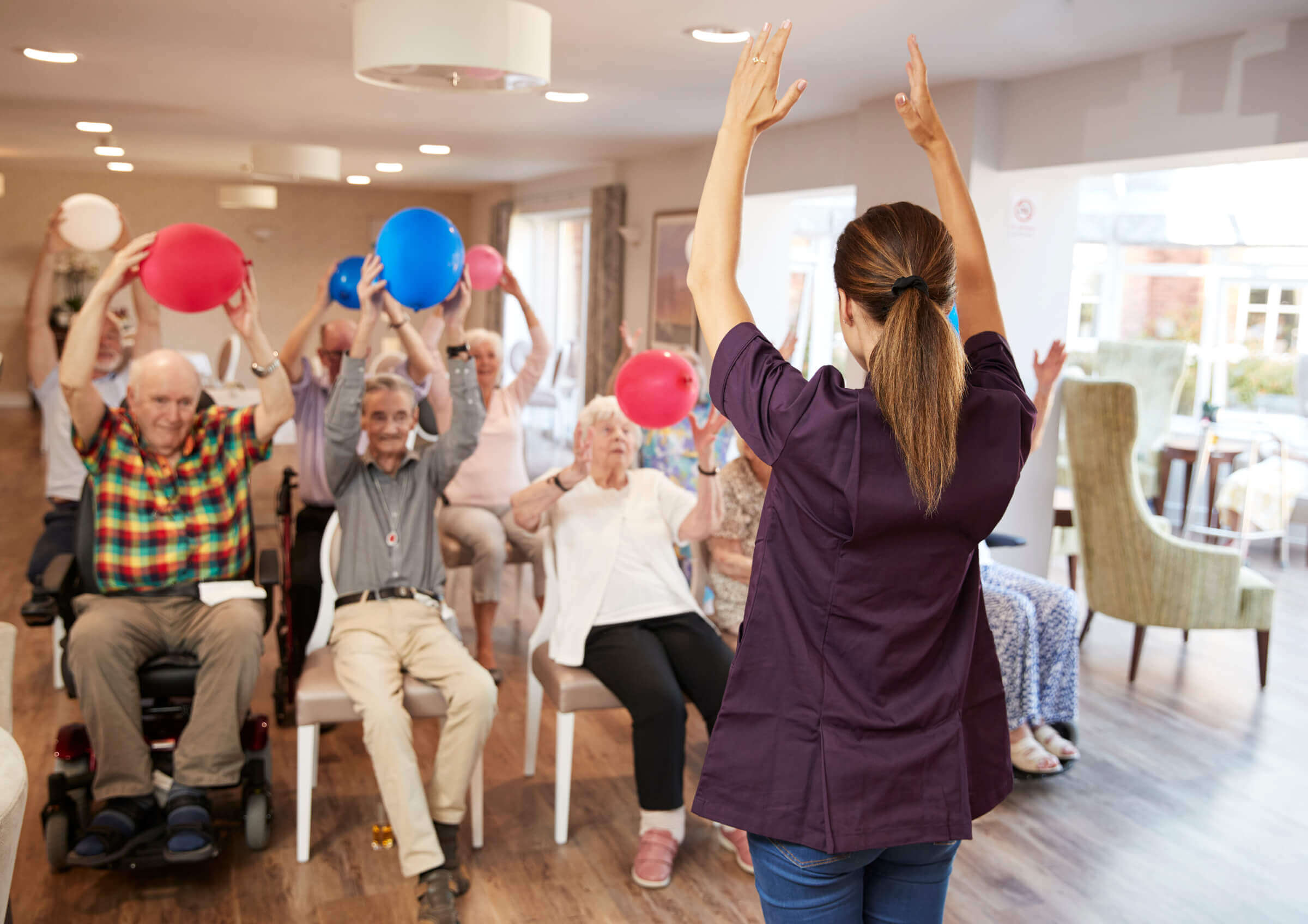 Nursing Home Residents participating in Activity